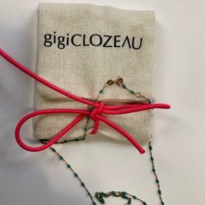 Gigi Clozeau 18k gold and turquoise resin necklace